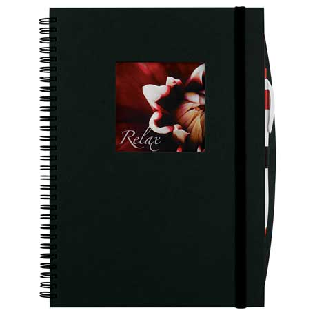 Frame Square Large Hardcover Spiral JournalBook, 2700-25, Full Colour Imprint