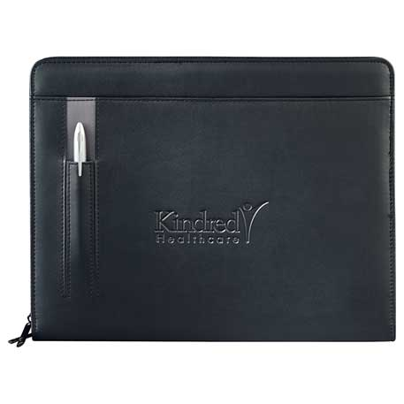 Links Zippered Padfolio, 5150-10, Deboss Imprint