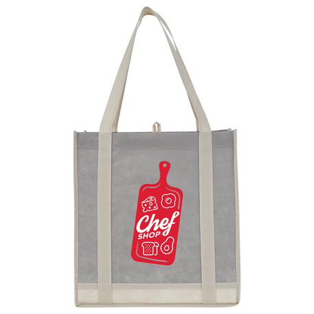 Two-Tone Non-Woven Little Grocery Tote, 2150-07, 1 Colour Imprint