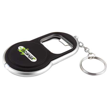 Circle Bottle Opener Keylight, 6640-15 - 1 Colour Imprint