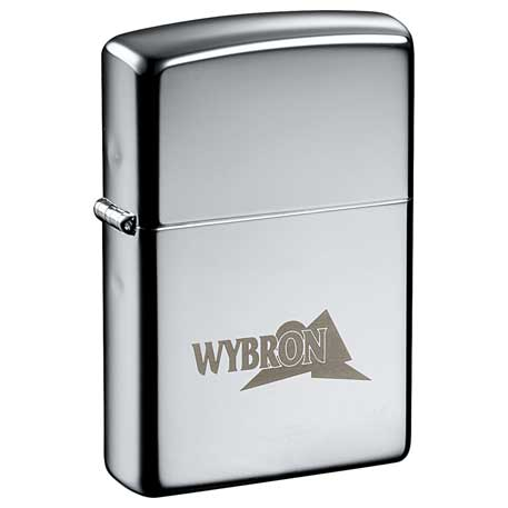 Zippo Windproof Lighter High Polish Chrome, 7550-17 - Laser Engraved Imprint