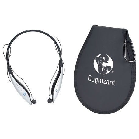 Echo Bluetooth Neckband with Earbuds and Speaker, 7199-66 - 1 Colour Imprint