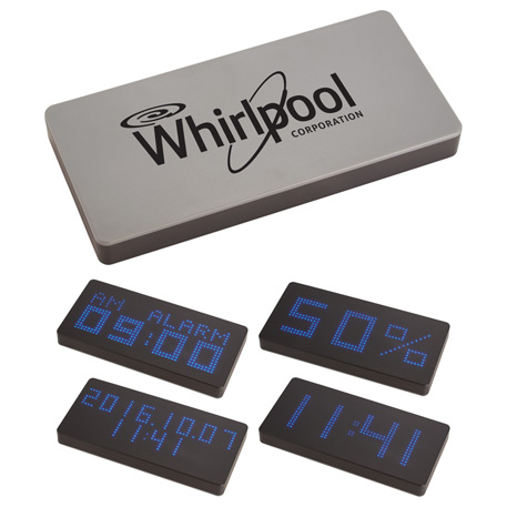 LED Display 8000 mAh Power Bank with Clock, 7121-06, 1 Colour Imprint