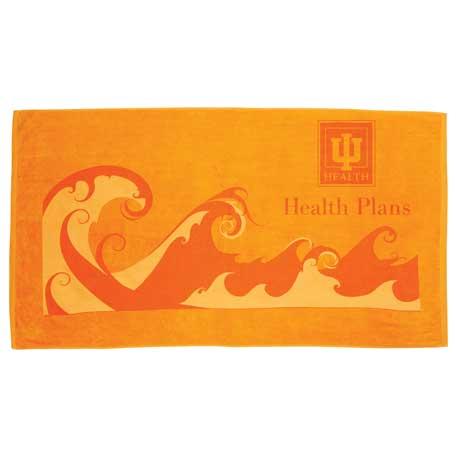 Ocean Wave Beach Towel, 2090-84 - Tone on Tone Imprint