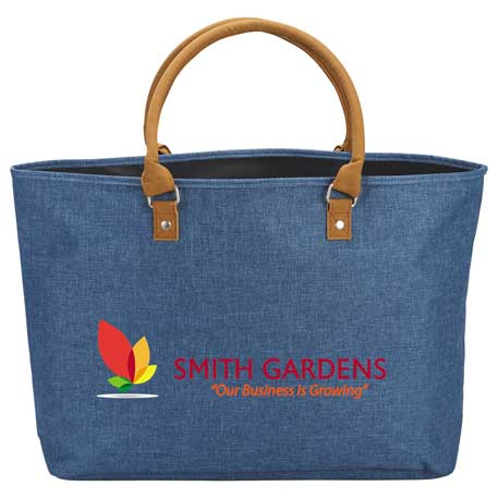 Heathered Suede Accent Tote, 7950-50 - 1 Colour Imprint