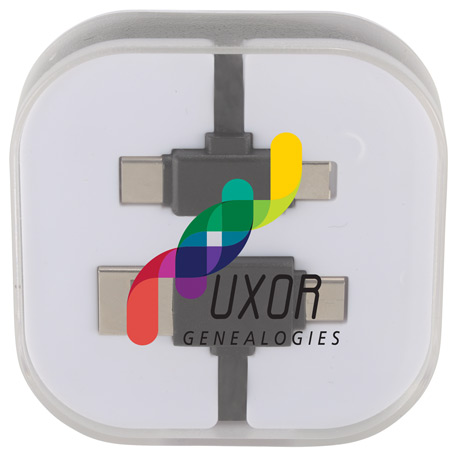 Colour Pop Charging Cable with Phone Stand, 7141-13 - 1 Colour Imprint