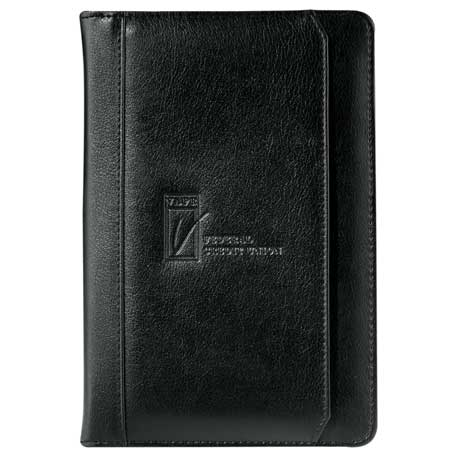 Manchester Jr. Zippered Padfolio, 0400-06, Deboss Imprint