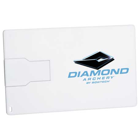 Slim Credit Card Flash Drive 2GB, 1695-05, 1 Colour Imprint