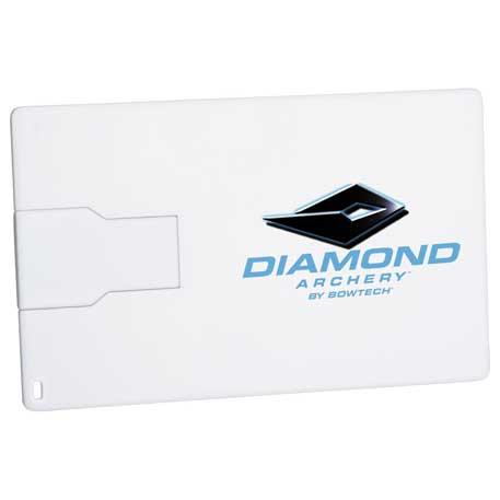 Slim Credit Card Flash Drive 2GB, 1695-05 - 1 Colour Imprint