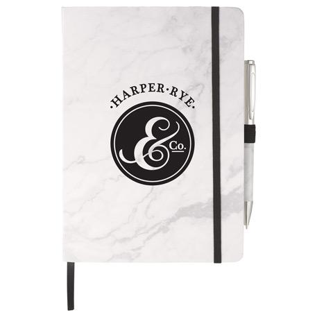 Marble Hard Bound JournalBook Bundle Set, 7200-23 - 1 Colour Imprint