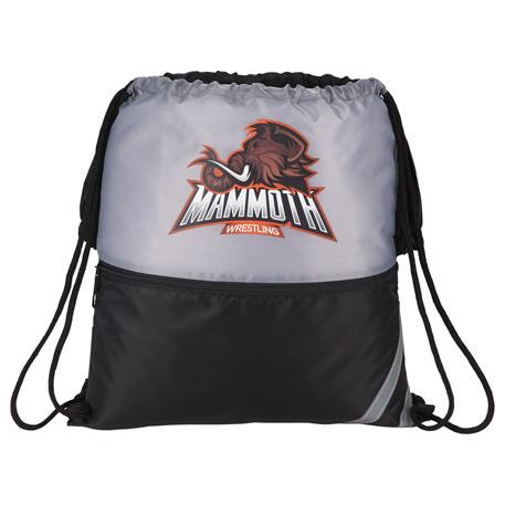 BackSac Spilt Drawstring Bag, 3005-35, 1 Colour Imprint