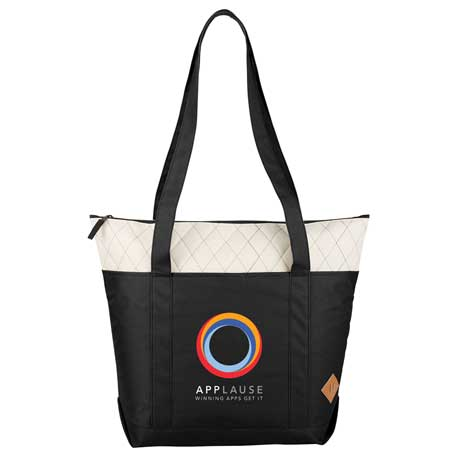 Quilted Zippered Boat Tote, 2301-33 - 1 Colour Imprint