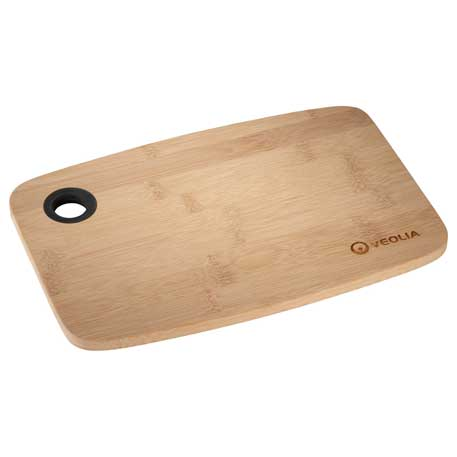 Bamboo Cutting Board with Silicone Grip, 1301-59 - Laser Engraved Imprint