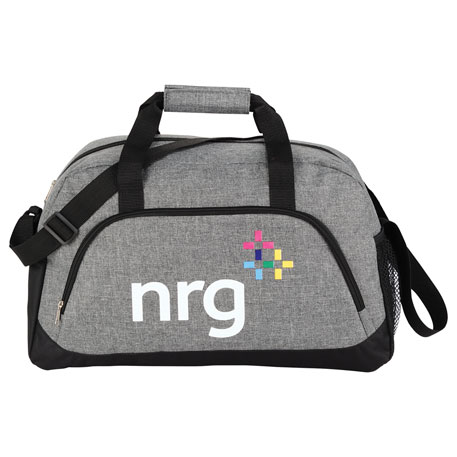 "18.5"" Medium Graphite Duffel Bag, 3450-70 - 1 Colour Imprint"