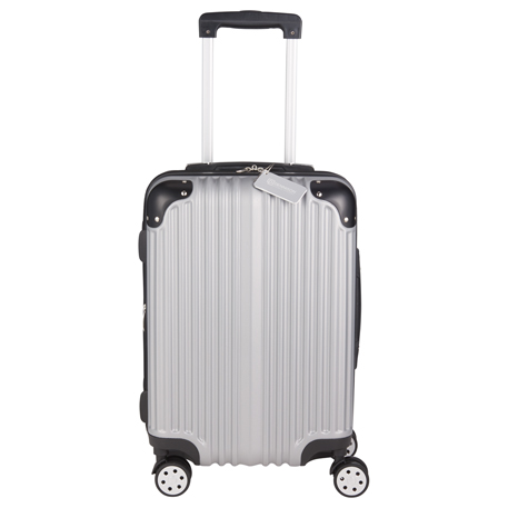 Metallic Upright Expandable Luggage with Tag, 5893-65, 1 Colour Imprint