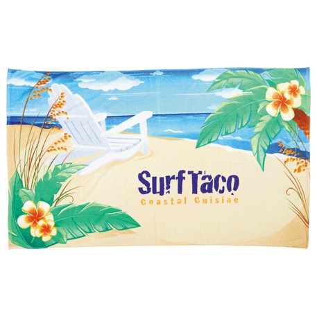 14 lb./doz. Beach Chair Beach Towel, 2090-25, 1 Colour Imprint