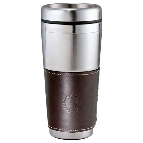 Cutter & Buck American Classic Leather Tumbler 16, 9850-34 - Debossed Imprint