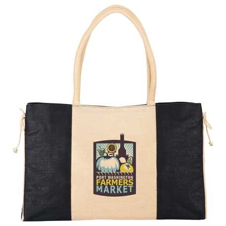 Resort Jute Tote, 7900-75 - 1 Colour Imprint
