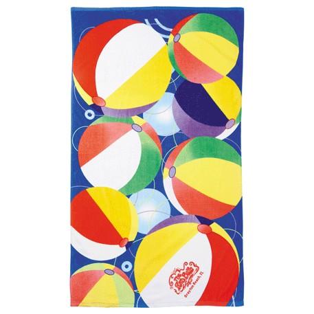 14 lb./doz. Beach Ball Beach Towel, 2090-31 - Tone on Tone Imprint