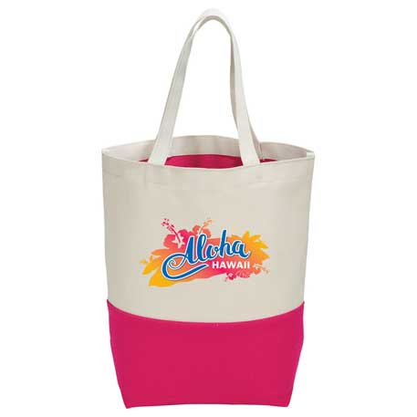 10 oz. Cotton Canvas Color Pop Tote, 7900-78, 1 Colour Imprint