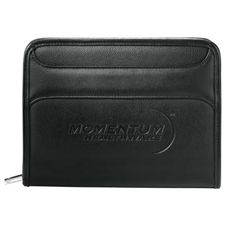 Burke Jr. Zippered Padfolio, 3280-06, Deboss Imprint