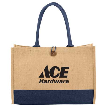 Jute Box Tote, 7900-74 - 1 Colour Imprint