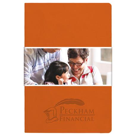 Pedova Soft Graphic Wrap-Deboss Plus JournalBook, 2900-11-L, Debossed Logo