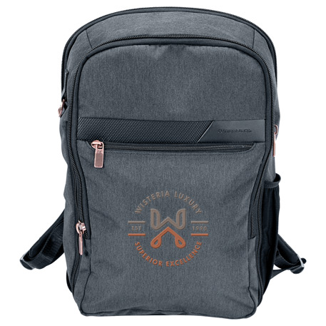"Cutter & Buck Slim 15"" Computer Backpack, 9870-53, 1 Colour Imprint"