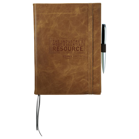 Field & Co. Cambridge Refillable Notebook, 7950-06, Deboss Imprint