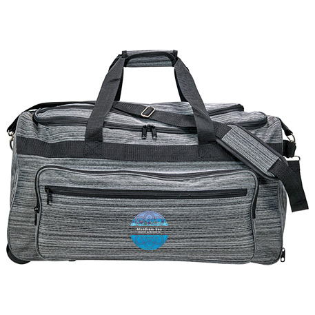 Heathered Rolling Duffel, 8200-28, 1 Colour Imprint