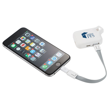 Emergency Power Bank with MFi 3-in-1 Cable, 7140-96 - 1 Colour Imprint
