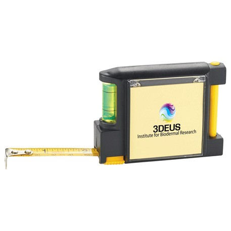 Built2Work 3 in 1 Tape Measure with Pen and Level, 1430-45 - 1 Colour Imprint