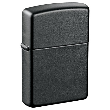 Zippo Windproof Lighter Black Matte, 7550-26 - Laser Engraved Imprint