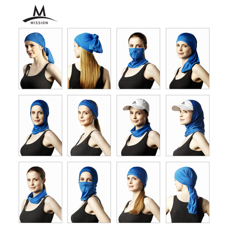 Mission Instant Cooling 12 in 1 Neck Gaiter, 2090-37, 1 Colour Imprint