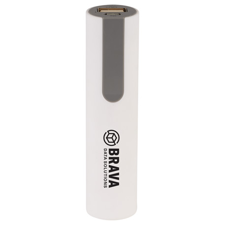 Jinn Rubber Coated 2200 mAh Power Bank, 7121-48, 1 Colour Imprint