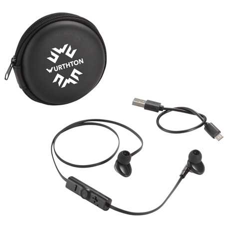Sonic Bluetooth Earbuds and Carrying Case, 7198-42 - 1 Colour Imprint