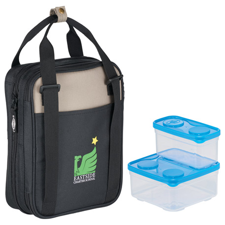 Arctic Zone Expandable Lunch Set with containers, 3860-43 - 1 Colour Imprint