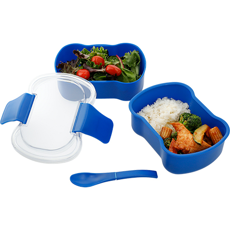 Mini Two Tier Bento Box, 1031-55, 1 Colour Imprint