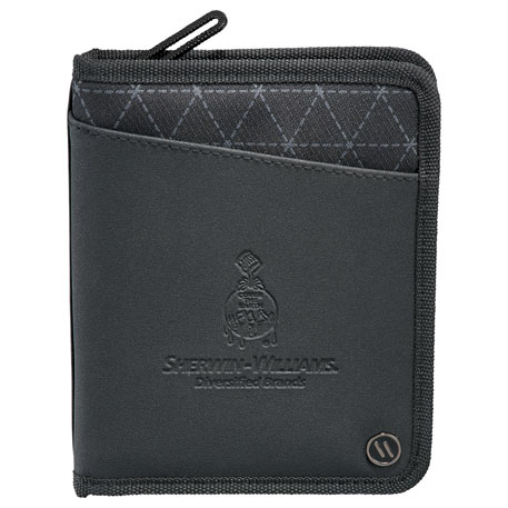 elleven Traverse RFID Passport Wallet, 0011-28 - Debossed Imprint