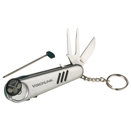 Golf 7-in-1 Tool Keyholder, 4004-04, 1 Colour Imprint