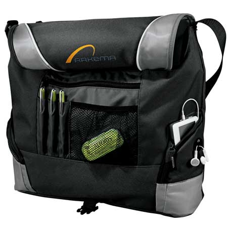 Slant Messenger Bag, 7850-06, Embroidered Imprint