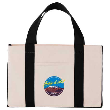 Small 18 oz. Cotton Canvas Utility Tote, 7900-83 - Debossed Imprint