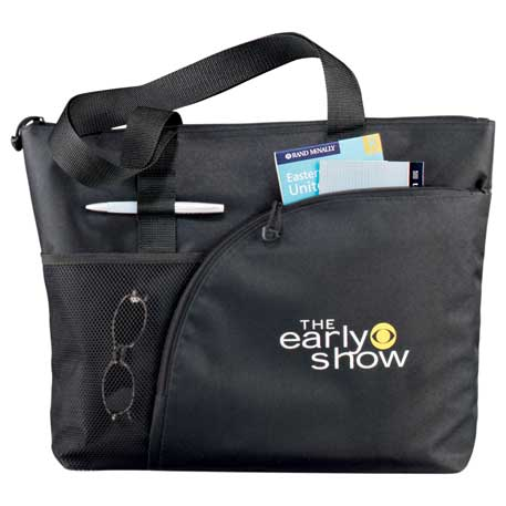 Excel Sport Zippered Utility Business Tote, 8100-39 - 1 Colour Imprint