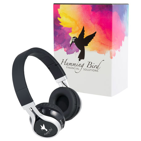 Enyo Bluetooth Headphones with Full Color Wrap, 7198-86, 1 Colour Imprint