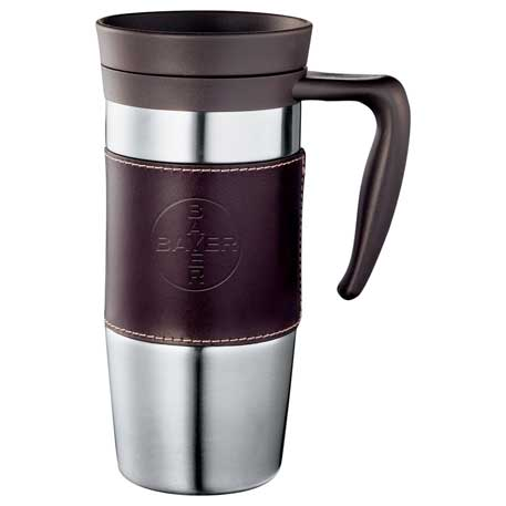 Cutter & Buck American Classic Leather Mug 14oz, 9850-33 - Debossed Imprint
