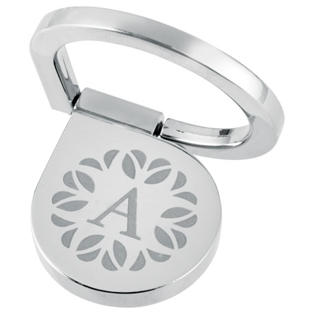 2 in 1 Aluminum Cell Phone Ring and Stand, 7141-14, Laser Engraved Imprint