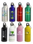 Custom 22 Oz. Aluminum Sports Water Bottle w/ Carabiner