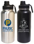 32 Oz. Stainless Steel Vacuum Insulated bottle with twist-on lid and loop