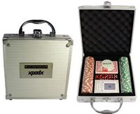 100 Piece Poker Chip Set in Aluminum Case
