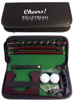 Golf Putter Set Game in Black Leather Case